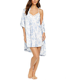 INC Floral-Print Wrap Robe, Created for Macy's