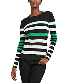 Lauren Ralph Lauren Ribbed Cotton-Blend Sweater