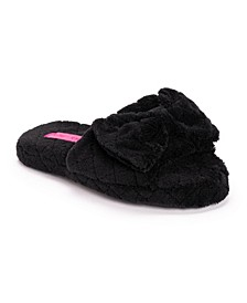 Women's Quilted Terry Cloth Slide Slippers