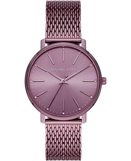 Michael Kors Women's Pyper Lavender Stainless Steel Mesh Bracelet Watch 38mm