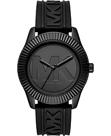 Women's Maddye Black Silicone Strap Watch 43mm