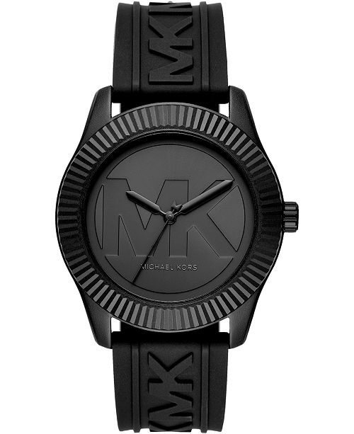 Michael Kors Women's Maddye Black Silicone Strap Watch 43mm