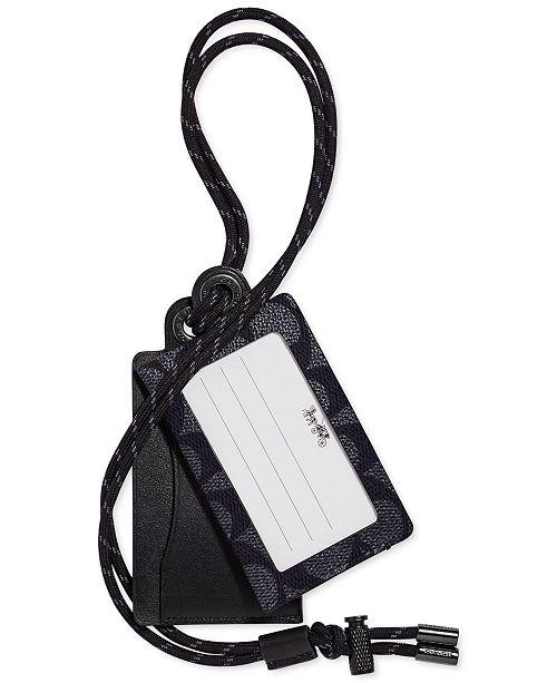 COACH Men's Leather Card Case & Lanyard