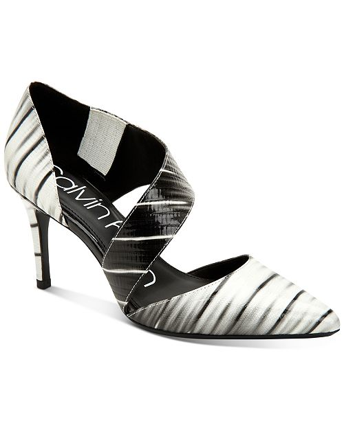 Calvin Klein Women's Gella Asymmetrical Dress Pumps
