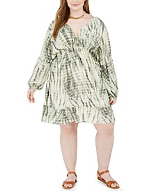 Trendy Plus Size Tie-Dyed Dress