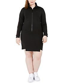 Trendy Plus Size Bodycon Track Dress