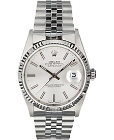 Men's Swiss Automatic Datejust Jubilee 18K White Gold & Stainless Steel Bracelet Watch, 36mm