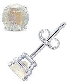 Moonstone (1-1/10 ct. t.w.) Stud Earrings in 14K White or Yellow Gold