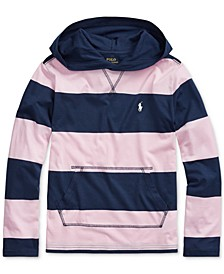 Big Boys Striped Cotton Hooded T-Shirt