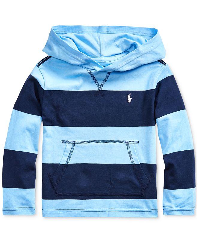 Polo Ralph Lauren Toddler Boys Striped Cotton Hooded T-Shirt