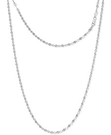 "Disco Link 16"" Chain Necklace in Sterling Silver, Created for Macy's"