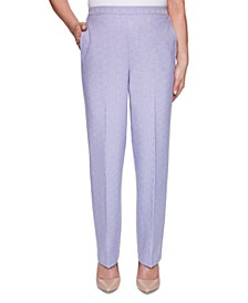 Petite Nantucket Proportioned Pull-On Pants, Short