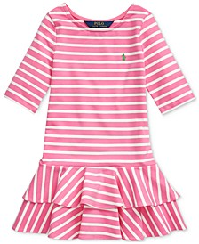 Toddler Girls Striped Stretch Jersey Dress