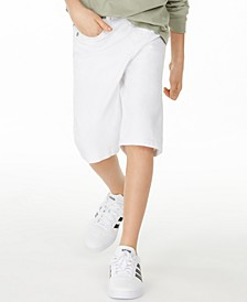 Big Boys Stretch White Denim Shorts, Created for Macy's