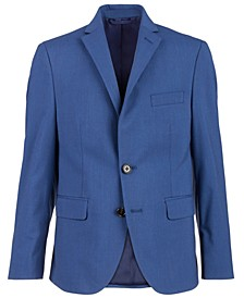 Big Boys Classic-Fit Blue Textured Suit Jacket