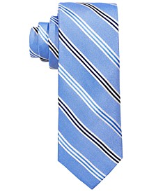로렌 랄프로렌 보이즈 넥타이 Lauren Ralph Lauren Big Boys Blue Stripe Silk Tie,Navy