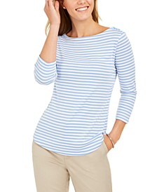 3/4-Sleeve Striped Top, Created for Macy's