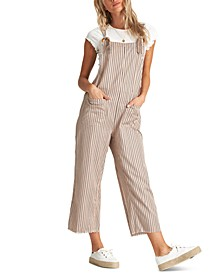 Juniors' Run Wild Cropped Overalls