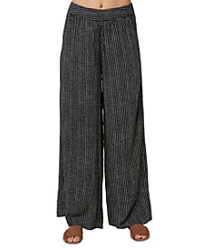Juniors' Hailey Wide-Leg Printed Pants