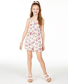 Big Girls Floral-Print Challis Romper, Created for Macy's