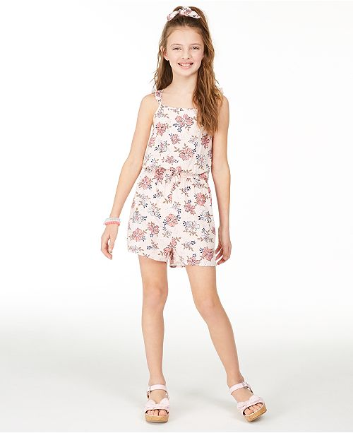 Epic Threads Big Girls Floral-Print Challis Romper, Created for Macy's