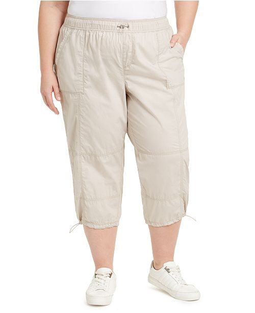 Calvin Klein Plus Size Cotton Woven Active Pants