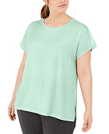 Plus Size Mesh-Back T-Shirt, Created for Macy's