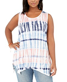 Plus Size Tie-Dyed Tank Top, Created for Macy's