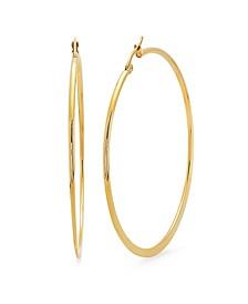 18K Micron Gold Plated Stainless Steel Hoop Earrings