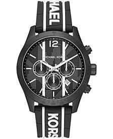 Women's Chronograph Layton Black & White Silicone Strap Watch 44mm