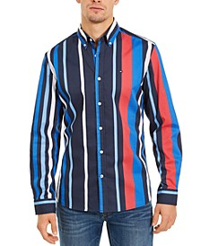 Men's Striped Button-Down Shirt