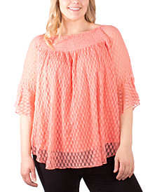 NY Collection Plus Size Textured Top
