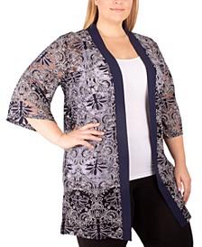 Plus Size Sheer Kimono