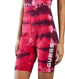 Tie-Dyed Biker Shorts