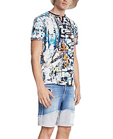 Men's Jules Graphic Split-Neck T-Shirt