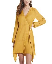 ECO Hanna Paisley Jacquard Wrap Dress