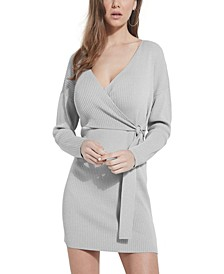 Emi Wrap-Front Sweater Dress