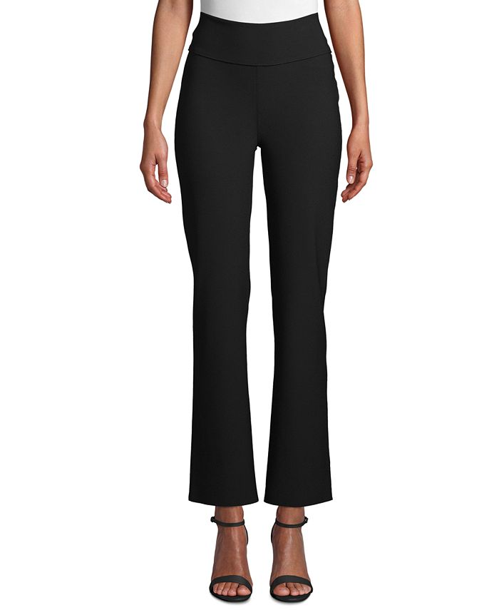 Anne Klein - Double-Knit Flare Pants