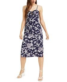 Juniors' Floral-Print Midi Dress