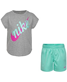 Little Girls 2-Pc. Futura Logo T-Shirt & Shorts Set