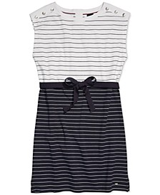 Women's Millicent Striped Dress with Magnetic Closure