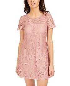 Juniors' Lace Shift Dress