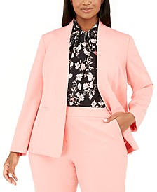 Trendy Plus Size Bi-Stretch Open-Front Blazer, Created For Macy's