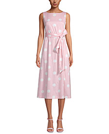 Anne Klein Printed Sleeveless A-Line Dress