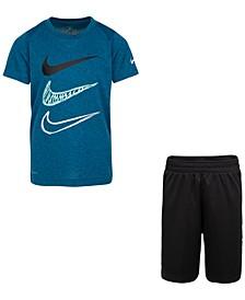 Little Boys 2-Pc. Dri-FIT T-Shirt & Shorts Set