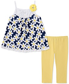 Little Girls 2-Pc. Daisy Tunic & Leggings Set