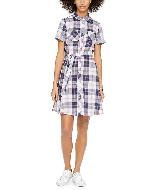 Tommy Hilfiger Belted Cotton Shirtdress