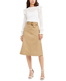 INC Ruffle Pullover Top & Utility Midi Skirt, Created for Macy's
