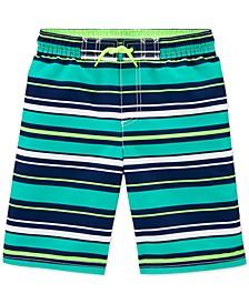 Little & Big Boys Striped Swim Shorts
