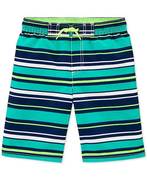 Carter's Little & Big Boys Striped Swim Shorts